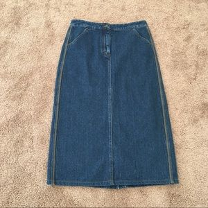 Christopher & Banks Denim Skirt